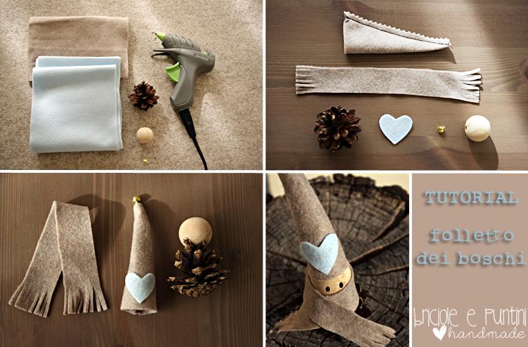 Tutorial riciclo creativo folletto dei boschi con le pigne for Gnomi di stoffa fai da te