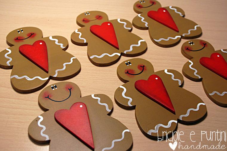 Gingerbread in legno tutorial decorazioni natalizie fai - Decorazioni natalizie country fai da te ...