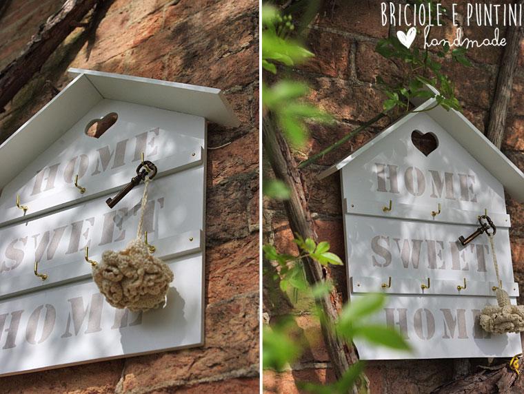 Preferenza Home sweet home - casette appendichiavi shabby chic • Briciole e  JG73