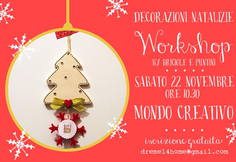 Workshop decorazioni di natale mondo creativo bologna for Mondo bologna