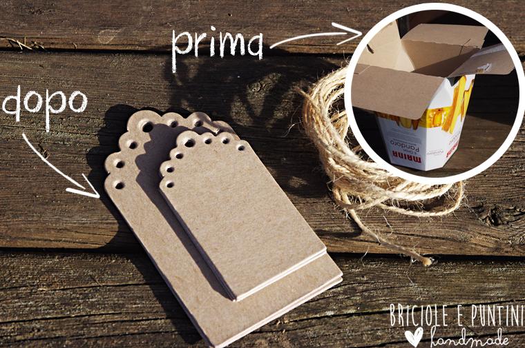 Riciclo creativo scatole del panettone tags effetto carta - Scatole porta panettone ...