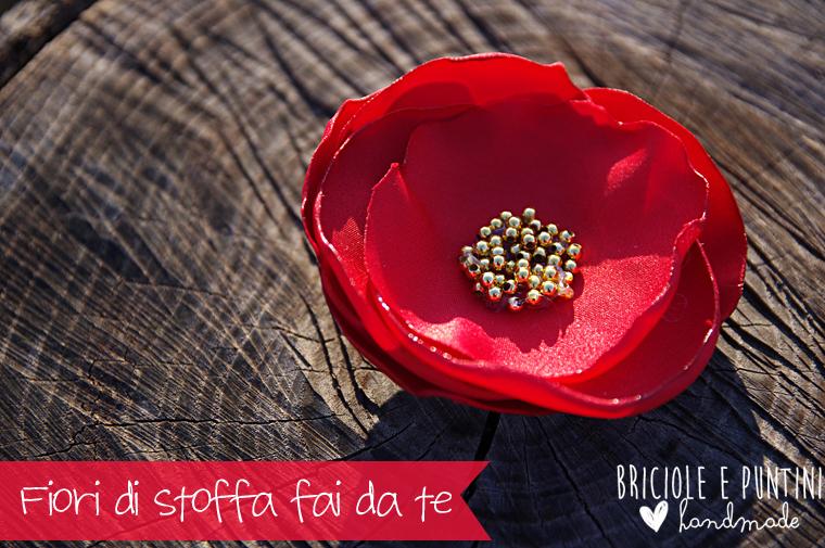 Ben noto Spille con fiori di stoffa fai da te - tutorial PR97
