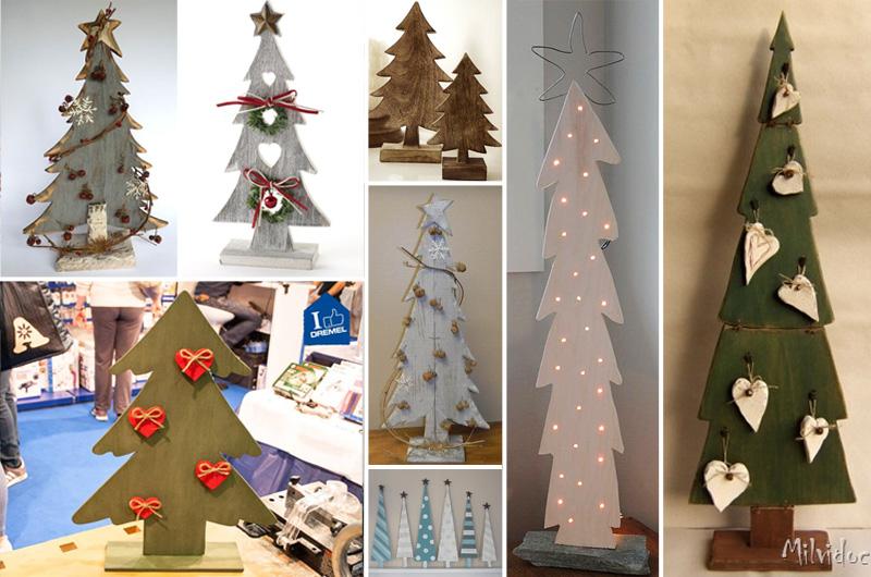 Alberi di natale in legno tutti i tutorial compreso il mio - Decorazioni natalizie con il legno ...