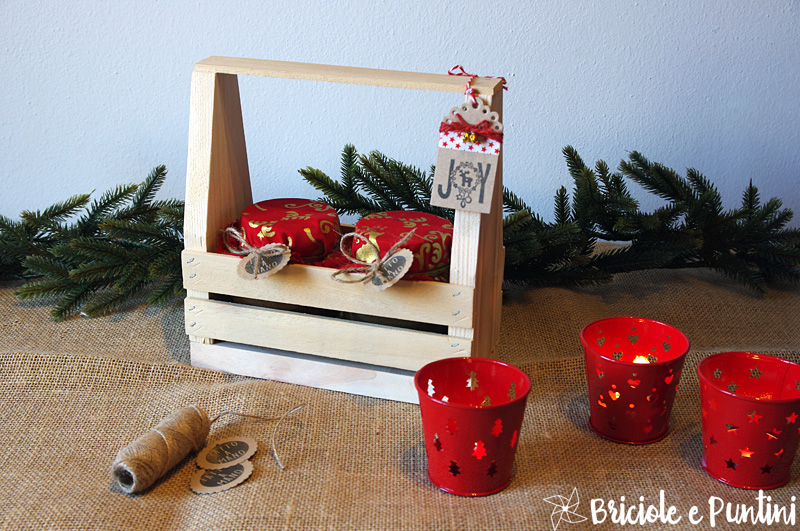 Regali fai da te toolbox in legno porta marmellate for Porta borse fai da te