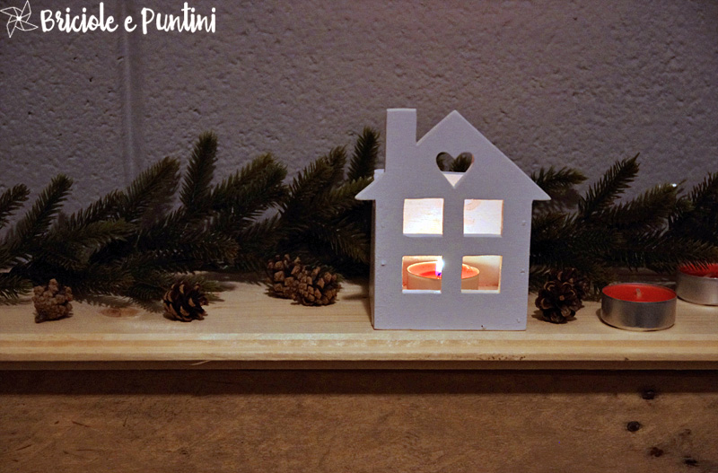 Lanterne in legno a forma di casetta tutorial for Lanterne in legno