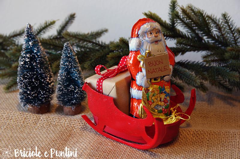 Top Slitta di Babbo Natale con le scatole del formaggio spalmabile OB95