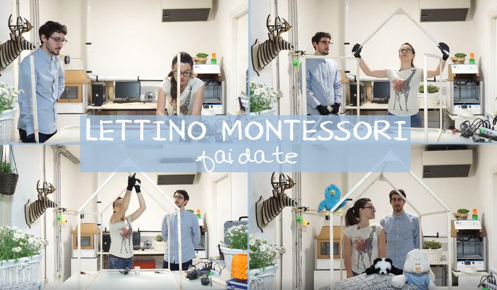 Lettino montessori fai da te con dremel briciole e puntini - Letto montessori casetta ...