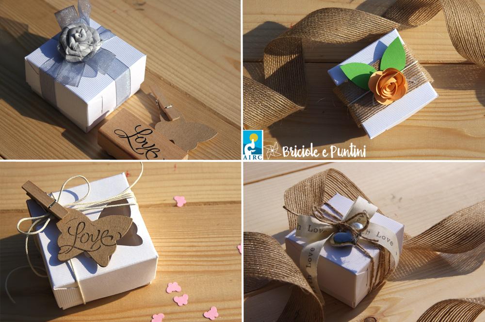 Preferenza Idee per bomboniere solidali fai da te - le scatoline AIRC  BI11